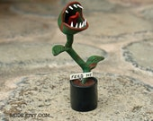 Carnivorous Plant Feed Me I am Hungry Polymer Clay figure