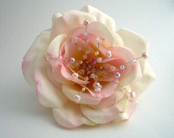 Pale Pink Rose Hairpiece