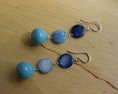 Insouciant Studios Spring Rain Earrings Sterling Silver Shell Turquoise