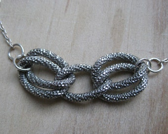 Insouciant Studios Julie Sterling Silver and Vintage Steel Necklace