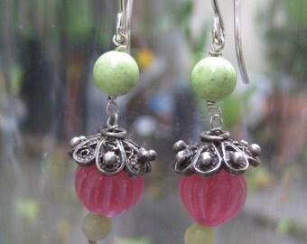 Insouciant Studios Mallorie Earrings in Pink