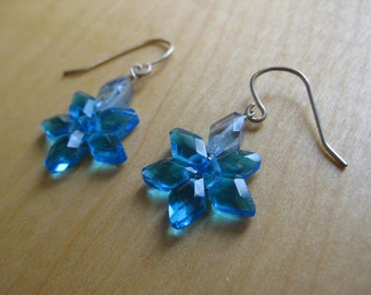 Insouciant Studios Starlight Earrings Aqua and Electric Blue