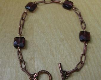 Insouciant Studios Parlour Bracelet Vintage Chain with Amethyst