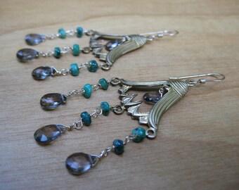Insouciant Studios Bellflower Earrings Emerald