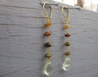 Insouciant Studios Symphony Earrings Petro Tourmaline and Apatite
