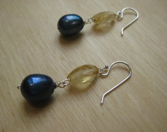 Insouciant Studios Dockside Earrings Sterling Silver Pearl