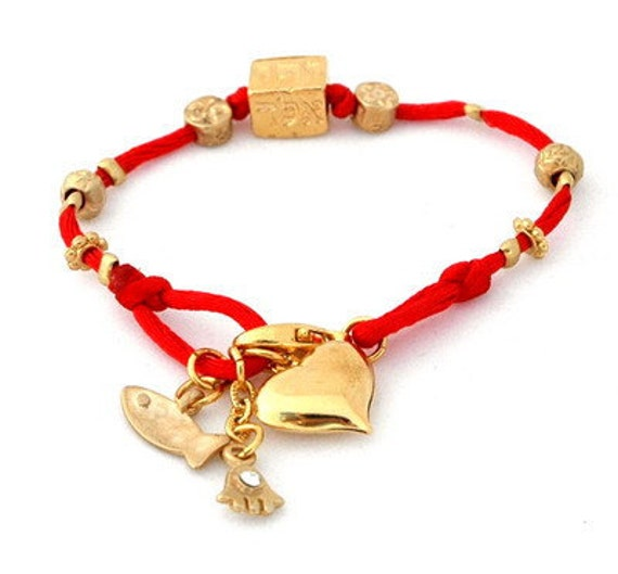 Four Names Kabbalah Red String Bracelet by luckyamulets on ...