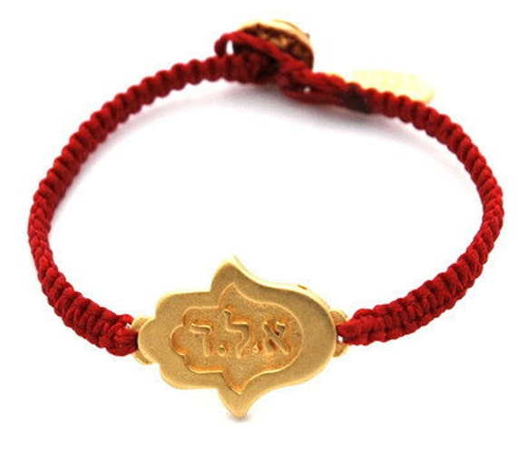 Gold Hamsa Bracelet for Protection