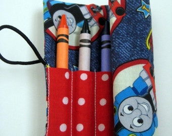 Crayon Roll Thomas the Tank Engine Includes 8 Crayons