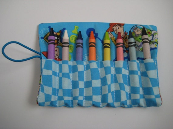 Crayon Roll Toy Story Includes 8 Crayons