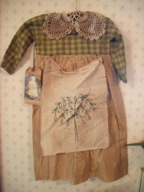 Primitive Prairie Dress Infant Size Home Decor