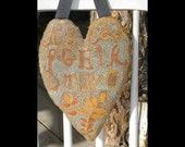 Sampler Heart - needle punch pattern from Notforgotten Farm