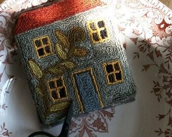 Grey House Needlebook - Punch Needle PATTERN