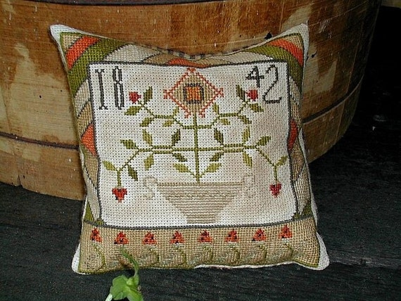 Strawberry Sampler - cross stitch pattern from Notforgotten Farm
