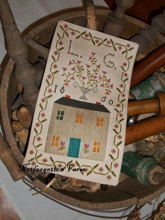 NEW cross stitch pattern - Loureda Geiste 1830
