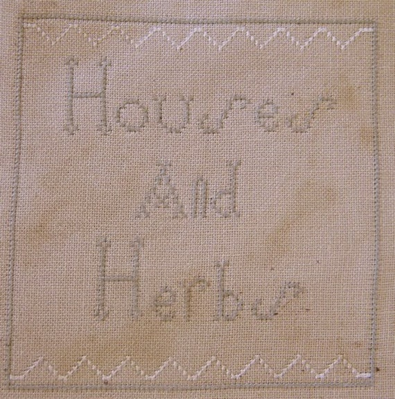 NEW cross stitch pattern - Houses and Herbs - alphabet series from Notforgotten Farm