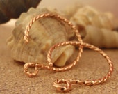 16 Gauge Fancy Twisted Copper Hoops