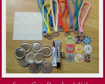 Snap Cap Pendant Kit-Includes the supplies and instructions to make 9 Snap Caps and 9 stretch washer chokers-Great for stocking stuffer