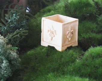 Planter Box for Miniature Garden, Dollhouse Fairy Garden or Terrarium