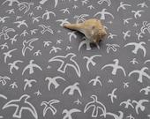 Handmade Screen Printed Fabric Called Birds In Flight in a fat quarter