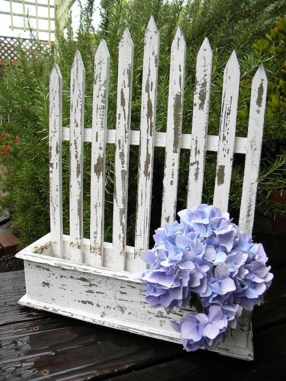 Vintage Picket Fence Planter