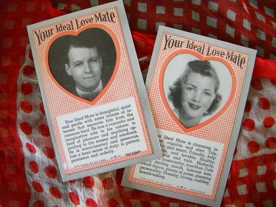 Vintage Arcade Cards - Your Ideal Love Mate 1941