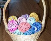 1/2 Doz Crocheted Eggs