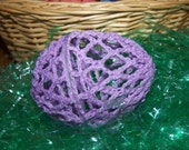 Lavendar Crocheted Egg