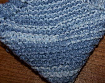 knitted Dish Cloth - Shaded Denim