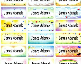 Sky Iron On personalized clothing garment shoe label sticker baby toddler kid boy girl child children camp school supply daycare