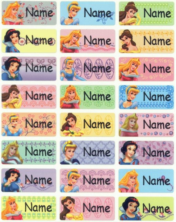Disney Princess M waterproof washable personalized name label