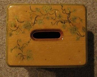 Wooden Pullman type stool - leaves
