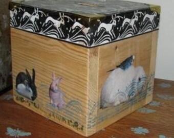 coin bank - bunnies
