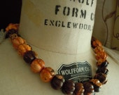 Pumpkin and Spice...Poppy Jasper Necklace...FREE SHIPPING...Ready to Ship