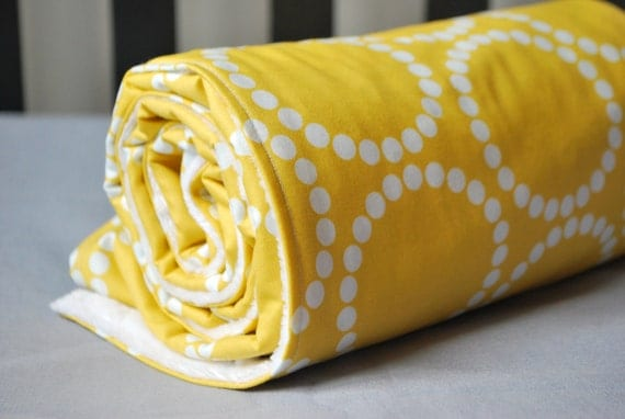 YOU CHOOSE FABRIC-Custom Baby Blanket -Simple-On the Go