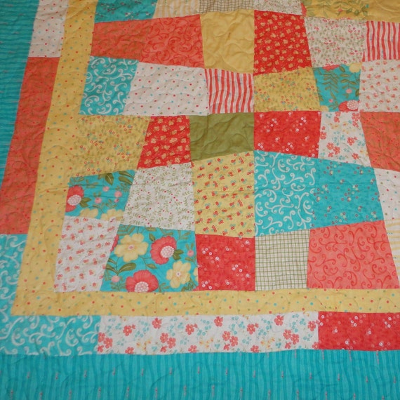 NEW PRICE REDUCTION   Lovely by Moda queen size quilt