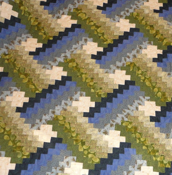 PRICE REDUCED cyber monday King size blue and green weaver fever with matching dust ruffle