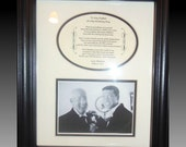 Wedding Father of  The Groom Personalized Gift Framed  thank you wedding bridal favor