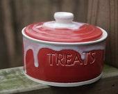 Valentine Red and White Treat Jar
