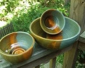 Nesting Set of Serving Bowls-Set of 3-Tuscany Collection-Ready to Ship