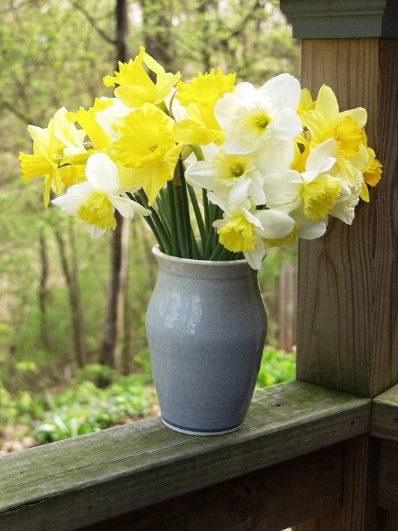 Flower Vase Holder Utensil Holder Blueberry  Ready to Ship