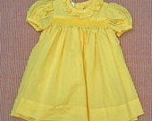 Sunshine on my shoulder vintage smocked dress