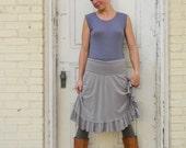 Charlotte Skirt ~Ruffled, Simple Adjustable Waist Band ~ Bamboo & Organic Cotton ~ Made to Order