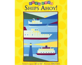 Ships Ahoy childs' quilt sewing pattern