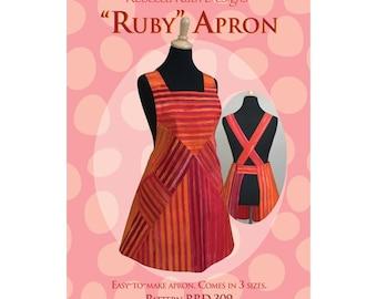 Ruby retro apron pattern