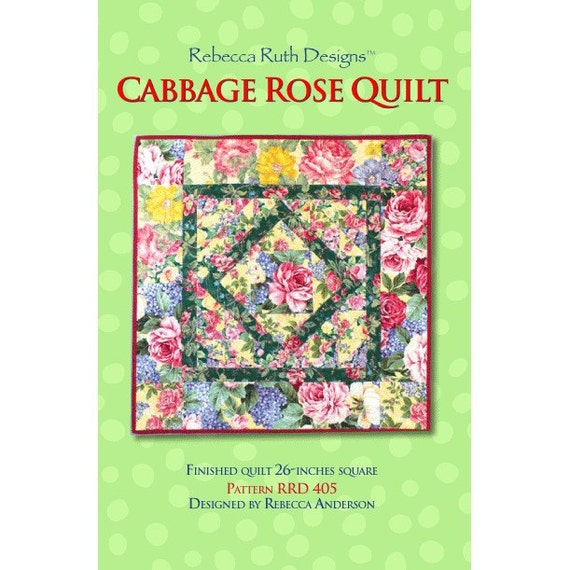 Cabbage Rose quilt sewing pattern