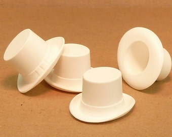 Top Hat - Large White - set of 6 - (203-3-146)