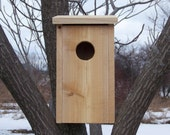 Cedar Owl House Birdhouse for Screech Owls, Kestrels