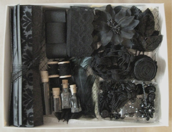 CLEARANCE Victorian Mourning Craft Box Super Deluxe - Limited Edition - All Black Goth Halloween