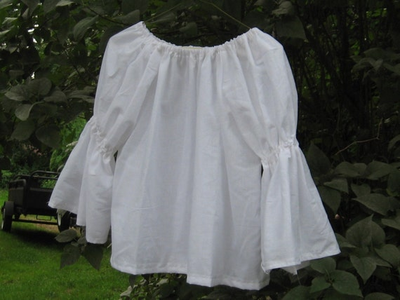 Girls Peasant Shirt, White Chemise Blouse, Pirate shirt, Pirate costume, Poet blouse, Girls white shirt, girls white blouse